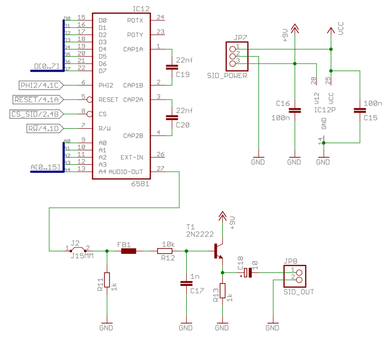 Homecomputer 6502 Sid Schematic